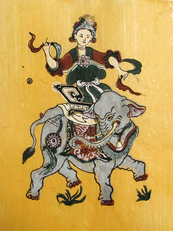 Triệu Thị Trinh, a national heroine before the Trung sisters. An independent woman and a fierce warrior. Often mocked by Confucian scholars as being too ugly and violent.
